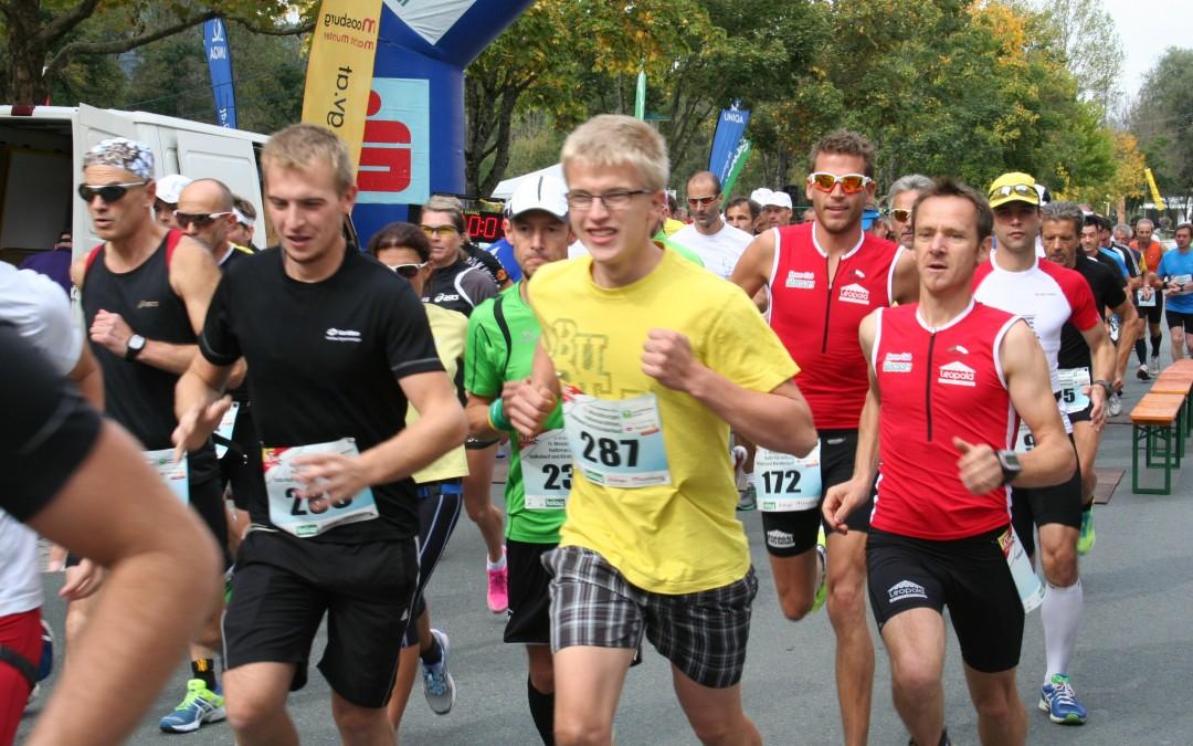 14. Moosburger Halbmarathon, Halbmarathonstaffel, Volkslauf und Kinderlauf am Samstag den 26.09.2015 um 12.30 Uhr